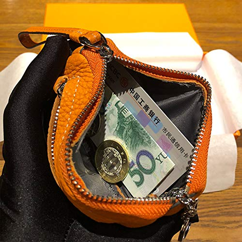 Zipper small purse L ITTXTTI clutch bag and coin bag key coin wrist leather mini short female cute paragraph dqqHwT7x
