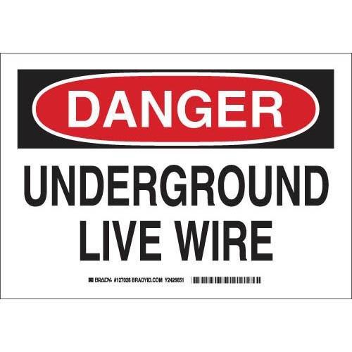 Brady 127030 Electrical Hazard Sign, Legend