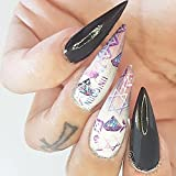 12 sets unicorns pink diamonds psychedelic rainbows NAIL DECALS celestial sun moon stars cartoon racer girl NAIL WRAPS my little pony NAIL VINYLS anime cosplay nail stickers nail tips