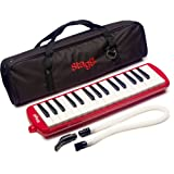 Stagg- Melosta32Rd 32 Note Melodica With Case - Red