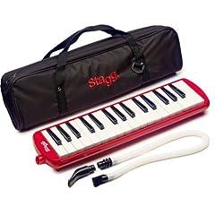 Stagg 32-Noten MELOSTA32RD mit Tasche