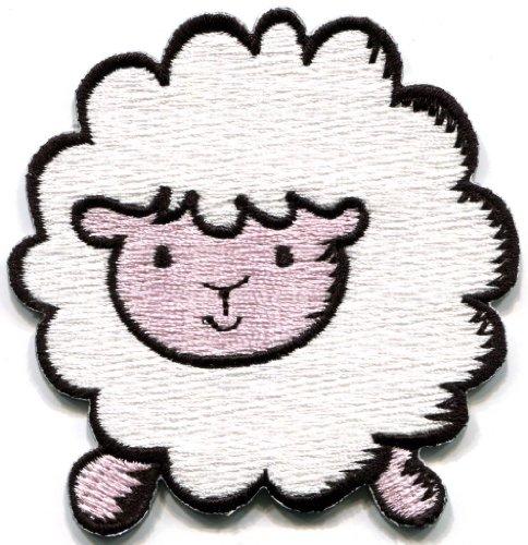 DKAORU Sheep lamb ewe fun retro applique iron-on - Lamb Applique
