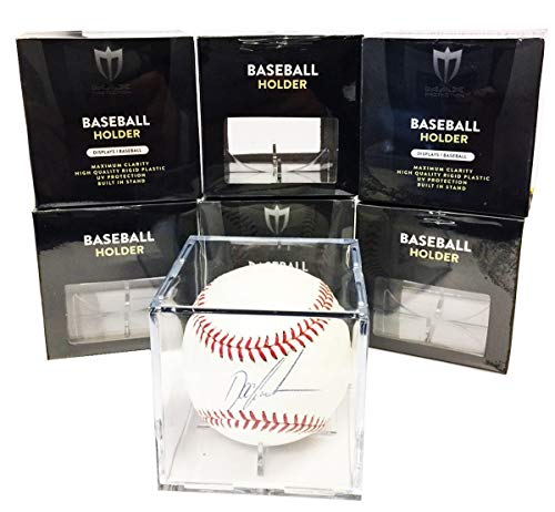 - Max Pro 12 Square Ultra Premium Baseball Display Holder w/Stand UV Protection New Lot Set (12 Baseball Cube Bundle)