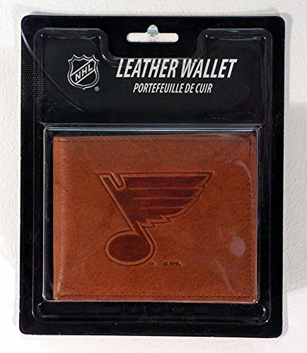 Rico Industries NHL St. Louis Blues Embossed Leather Billfold Wallet with Man Made Interior