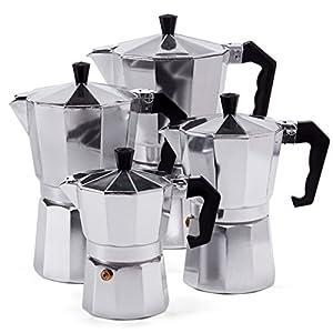 Espressokocher Espresso Mokka Maker Aluminium für 3,6,9 oder 12 Tassen...