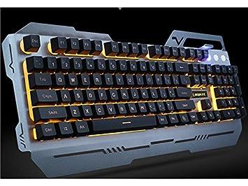 Blueqier Multimedia Juego de Teclado y ratón USB con Cable Juego de Teclado y luz para Juego portátil para PC: Amazon.es: Electrónica