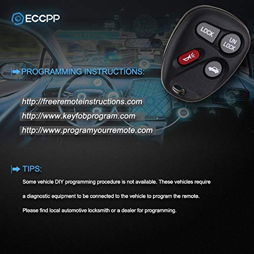 ECCPP 4X Replacement fit for Keyless Entry Remote Key Fob Buick Chevy GMC Pontiac Saturn Oldsmobile Cadillac Escalade Series ABO1502T
