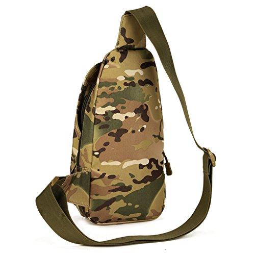 cinmaul Crossbody pecho bolsa caza senderismo ciclismo Heavy Duty Carrier táctica deporte supervivencia Militar), hombre, Desert Camouflage CP Camouflage