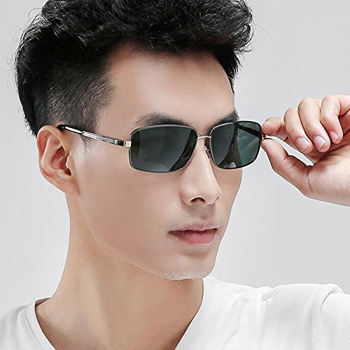 de Gifts Polarized de Sun soleil Protective hommes Lunettes Black soleil Protective pour Sunglasses Lunettes Sports Lunettes Retro Personn Star UV plein New soleil de Green air Hiker UV400 A Dark de Frame; Visor Conduite Gun Color qBFF70t