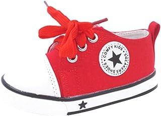Ragazza Ragazzo Sneaker Unisex, Classiche Casual Outdoor Scarpe di Tela con Suole Morbide Moda Antiscivolo Scarpe Piatte Sneaker per Bambino Bambini Taglie 21-37 Mxssi Network Technology Ltd