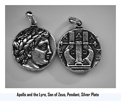 Golden Artifacts Apollo and Lyre, Son of Zeus Coin Greek Coins, Greek Mythology (30P-S)