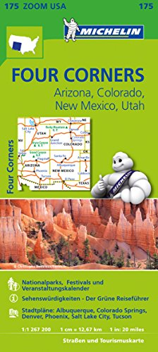 Michelin Zoomkarte Four Corners 1 : 1.267.200: Arizona, Colorado, New Mexico, Utah