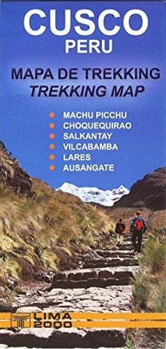Cusco, Peru Trekking Map