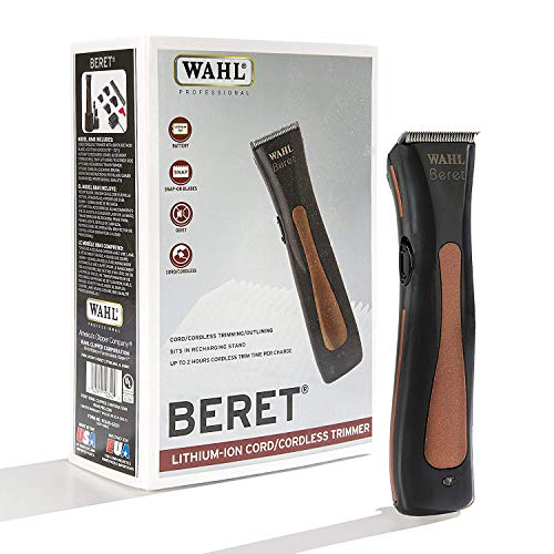 Wahl Professional Beret Lithium Ion Cord/Cordless Trimmer #8841 - Great for Barbers and Stylists - Lithium Ion Trimmer