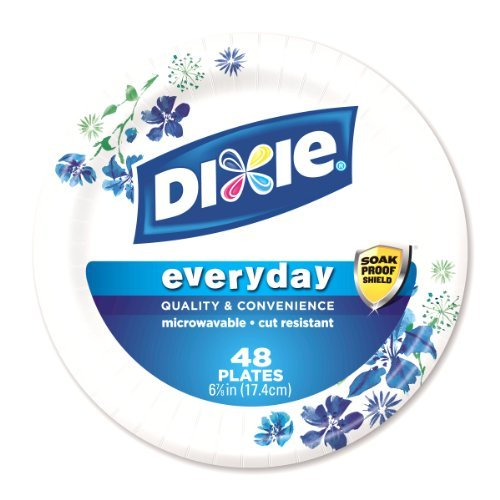Sauce Dixie - Dixie Everyday Paper Plates - Microwavable, Cut Resistant, Soak Proof Shield, 6-7/8 inch, 240 COUNT