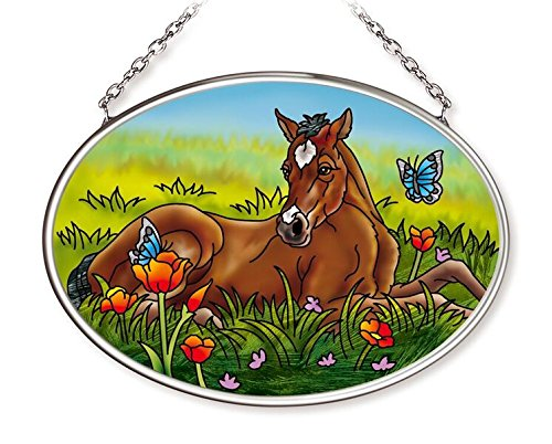 Amia Spring Foal Glass Oval ()