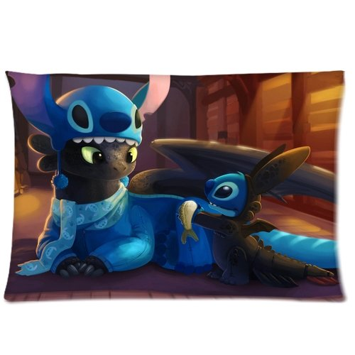 How to Train Your Dragon Toothless Stitch Pillowcases 20x26