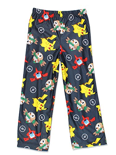 Nintendo Pokemon Boys Lounge Pajama Pants (Small/6-7, Grey) -