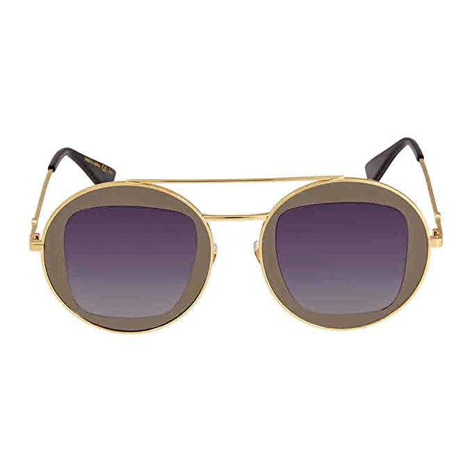 Gucci Mujer GG0105S 001 Gafas de sol, Gris (Ruthenium/Grey ...