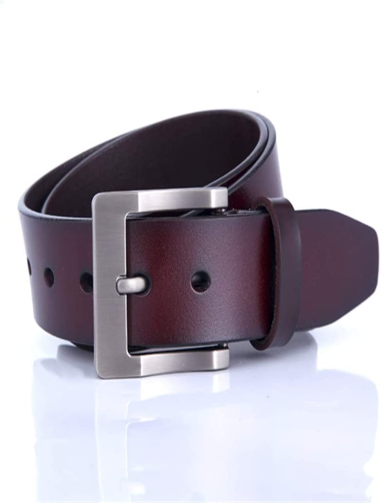 Crystalzhong-MW Mens Leather Strap Waistband Mens Leather Belt Buckle Retro Casual Belt with Black and Brown Color Formal Belt Color : Brown, Size : M