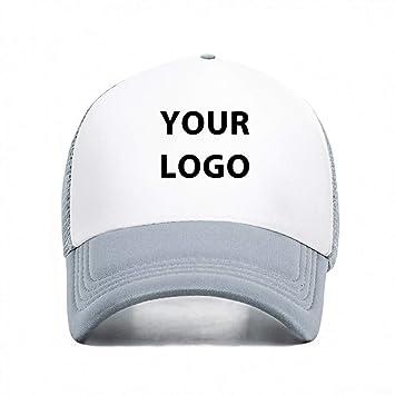 JKYJYJ Nueva Malla Unisex Sombrero Logotipo Personalizado ...