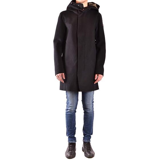 new products f9a1e 46bc0 Peuterey Coat Black: Amazon.co.uk: Clothing
