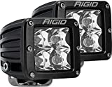 Rigid Industries 202213 D-Series Pro Spot Light; Surface Mount; Hybrid; 4 White LEDs; Black Square Housing; Set Of 2;