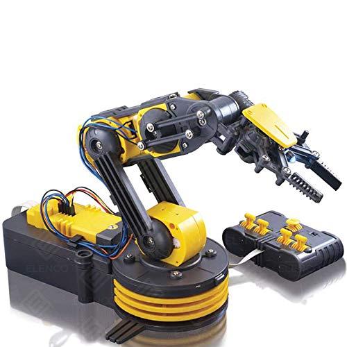"Elenco Teach Tech ""Robotic Arm Wire Controlled"", Robotic Arm Kit, STEM Building Toys for Kids 12+"