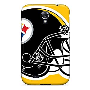 Galaxy S4 Hard Back With Bumper Silicone Gel Tpu Case Cover Pittsburgh Steelers