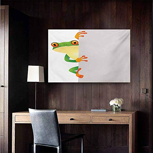 - duommhome Reptile Wall Art Decor Poster Painting Funky Frog Prince with Big Eyes on Wall Camouflage Nursery Reptiles Theme Decorations Home Decor 35
