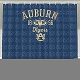 IWKULAD Auburn Tigers Logo Customized Shower Curtains