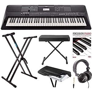 385ea8e4eb0 Yamaha PSREW410 76-key Portable Keyboard with Power Adapter