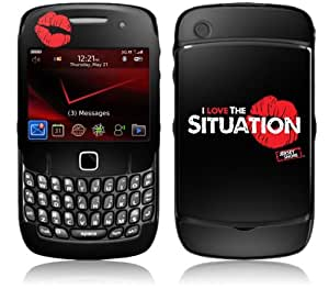 Zing Revolution MS-JYSH60044 BlackBerry Curve- 8520-8530- Jersey Shore- I Love The Situation Logo Skin