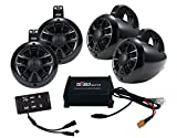 NOAM NUTV4 QUAD - 4 Channels Marine Bluetooth ATV / Golf Cart / UTV Speakers Stereo System
