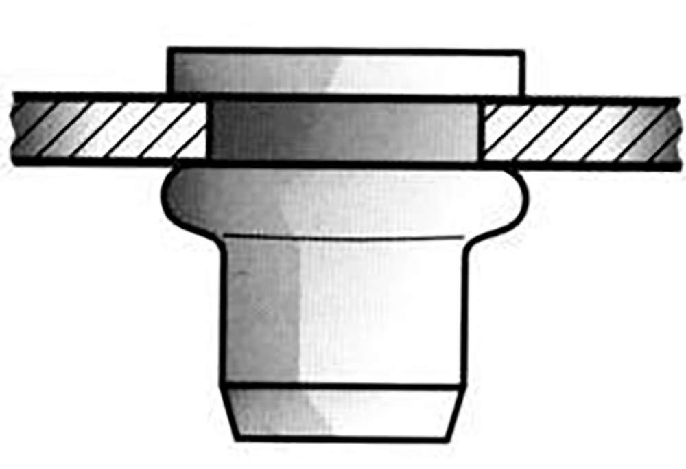 Gesipa 0/2933/000/5,0/7,0/11,5/01 Blindnietmuttern Stahl Standard hell-verzinkt, 5 x 7 x 11,5, 500 Stü ck, 5x7x11,5mm 0/2933/000/   5 0/  7 0/ 11