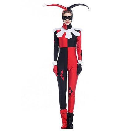 Hallowmax Disfraz de Halloween sobre el Payaso para la Mujer, Disfraz de Halloween de Mujer, el Ninja Enmascarado (XL), el Uniforme de Cosplay