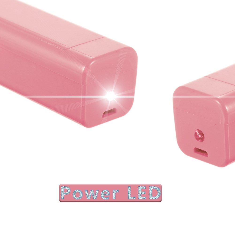 CXvwons Mini ventilatore ventilatore a mano pieghevole USB per casa ufficio Rosa