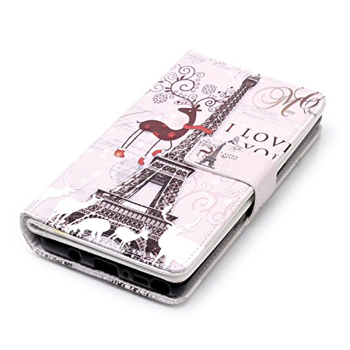 inShang Funda para Samsung Galaxy Note 8 con diseño integrado de la cartera, Note8 Funda con función de soporte. + clase alta 2 in 1 inShang marca negocio Stylus pluma Deer and tower