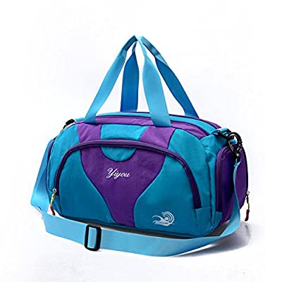 6045443c22eb 80%OFF Hit Color Swim Bag Travel Sports Gym Bag Waterproof with Dry Wet Area