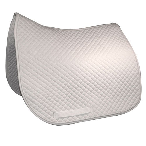 Intrepid International Felt Lined Quilted Dressage Saddle Pad, White