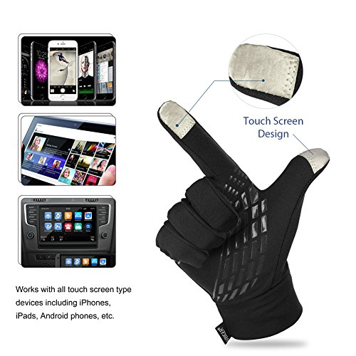 Vbiger Winter Warm Gloves Touch Screen Gloves Driving Gloves Cycling Gloves for Men Women (Small, Black)