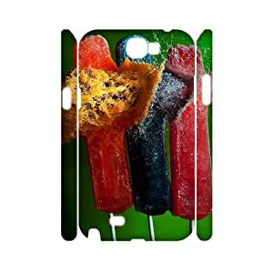 T-TGL(RQ) Custom Ice cream Pattern Protective Phone Case for Samsung Galaxy Note 2 N7100 3D