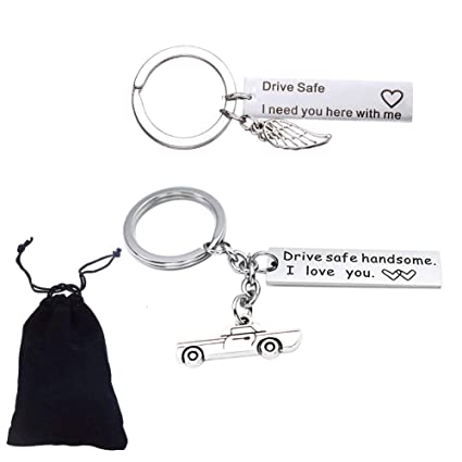 Amazon com: Jetloter 2 Pieces Drive Safe Keychain I Need You
