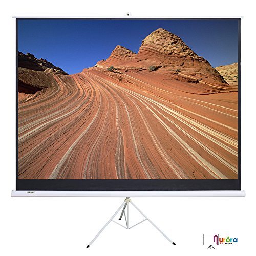 SUNCOO 100 inch HD 16:9 Portable Projector Screen Diagonal Projection Pull up Foldable Stand Tripod by SUNCOO