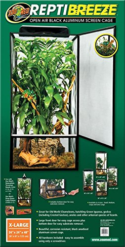 Zoo Med ReptiBreeze Open Air Screen Cage, Extra Large, 24 x 24 x 48-Inches by Zoo Med