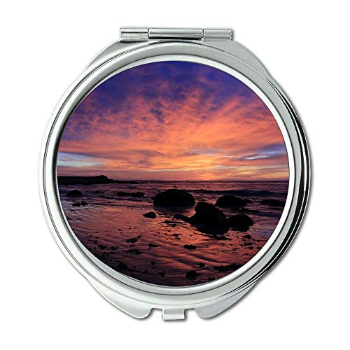 Mirror,makeup mirror,beach clouds coast,pocket mirror,portable - Bathroom Tampa Mirrors