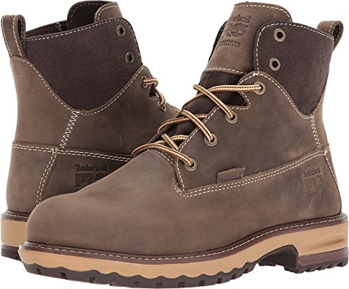 "Timberland PRO Women's Hightower 6"" Alloy Toe Waterproof Industrial & Construction Shoe, Turkish Coffee, 8.5 M US"
