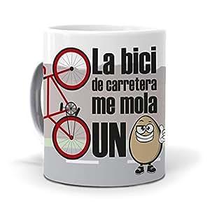 mundohuevo TazaLa bici de carretera me mola un huevo version
