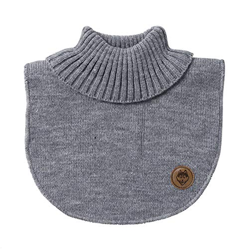 - iEFiEL Kids Knitted Sweater Collar Neck Warmer Turtleneck Cover Grey One Size