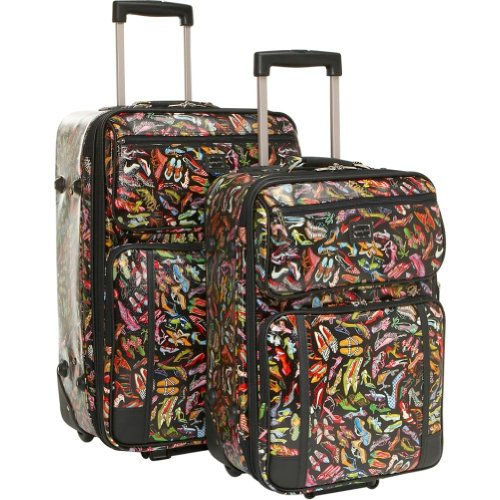 Sydney Love Stepping Out 2 Piece Luggage Set 41485 Weekender,Multi,One Size, Bags Central